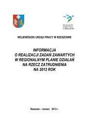 informacja o realizacji zadań zawartych w regionalnym planie ...