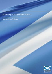 Achieving a Sustainable Future: Regeneration Strategy - Scottish ...