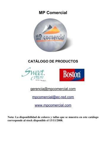 MP Comercial CATÁLOGO DE PRODUCTOS