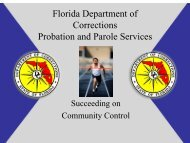 your responsibility - Florida Department of Corrections