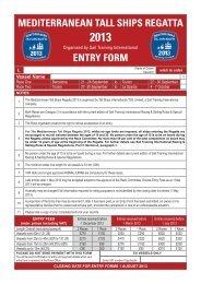 Entry Form - Sail Training International
