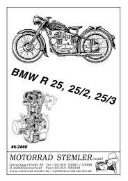 BMW R 25, R 25/2, R 25/3 - Ersatzteile für  deutsche Motorrad-Oldtimer
