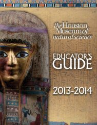 Download the Educator's Guide - Houston Museum of Natural Science