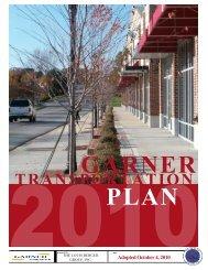 Transportation Plan - Town of Garner