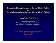 Innovative Dietary Sources of Omega-3 Fatty Acids or - National ...