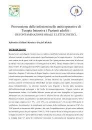 La prevenzione delle infezioni in terapia intensiva - Evidence Based ...