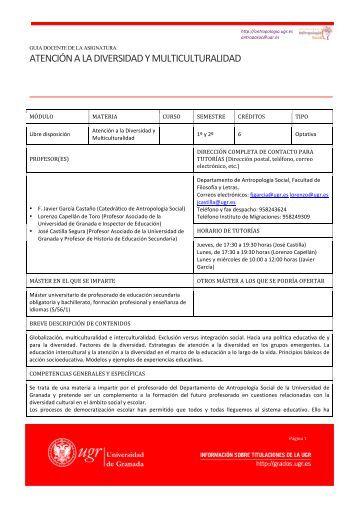 Programa de la Asignatura - Laboratorio de Estudios Interculturales