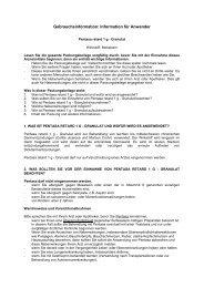 Gebrauchsinformation: PENTASA® retard 1 g - Granulat - Ferring