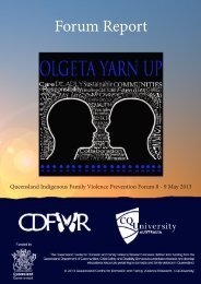 Forum Report - Qld Centre for Domestic and Family Violence Research