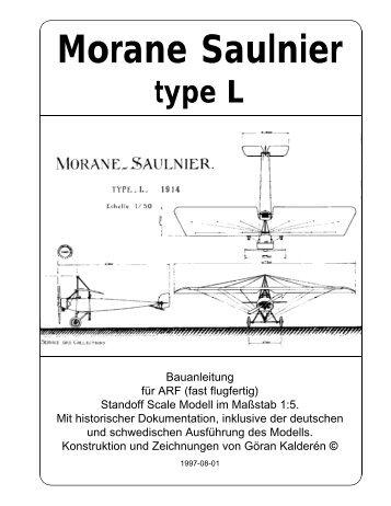 Morane Saulnier type L - K & W Model Airplanes Inc.