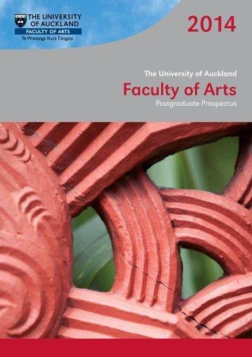2014 Arts Postgraduate Prospectus - Faculty of Arts - The University ...