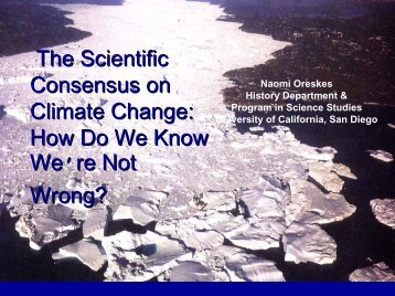 How Do We Know We're Not Wrong? - American Meteorological ...