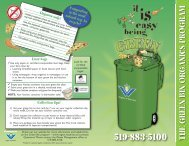 see the Green Bin Brochure - Region of Waterloo