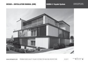 SIGMA 8 Façade System DESIGN + INSTALLATION ... - Swisspearl