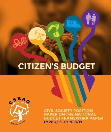 CITIZEN'S BUDGET FY 2014-15-FY2018-19