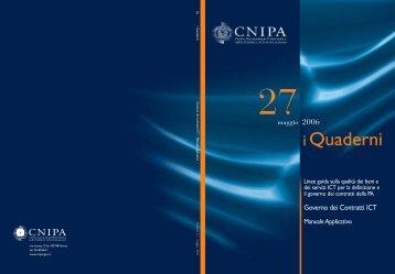 Governo dei Contratti ICT - Archivio CNIPA