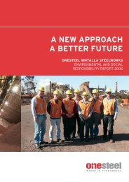 A NEW APPROACH A BETTER FUTURE - OneSteel