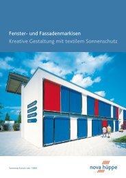 und Fassadenmarkisen Kreative Gestaltung mit textilem Sonnenschutz