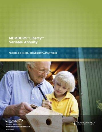 MEMBERS® LibertySM variable annuity - CUNA Mutual Group