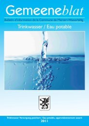 Trinkwasser / Eau potable - Administration Communale de Mertert