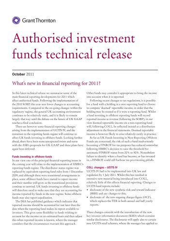 Authorised investment funds technical release (pdf ... - Grant Thornton