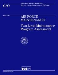 NSIAD-96-86 Air Force Maintenance - Justia GAO Reports