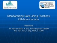 Standardizing Safe Lifting Practices Offshore Canada