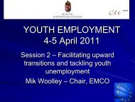 YOUTH EMPLOYMENT 4-5 April 2011