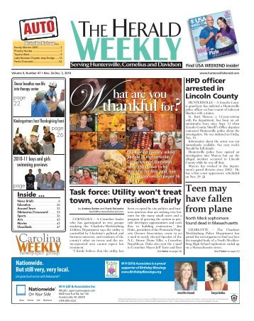 thankful thankful - Carolina Weekly Newspapers