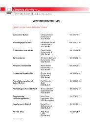 Adressliste Buttwiler Vereine