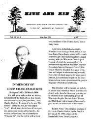 March - April 1994 - Marshfield Area Genealogy Group