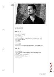 SIMON ECKERT - DIVINA – Agentur für Schauspielkunst