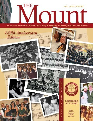 125th Anniversary Edition - Mount Saint Joseph Academy