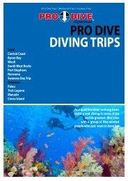 PRO DIVE DIVING TRIPS - Online Scuba Diving Booking System