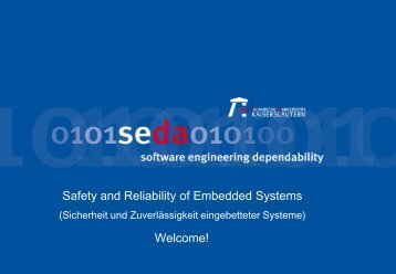 Safety and Reliability of Embedded Systems - Software Engineering ...