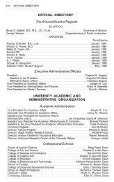 Directory - Northern Arizona University