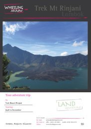 Trek Mount Rinjani April to November - Whistling Arrow