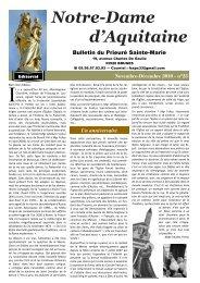 Notre Dame d'Aquitaine nº 23 - Un anniversaire ... - La Porte Latine