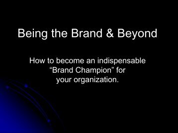 Part II: Building the Brand, Ron Nichols, National Public Affairs ...