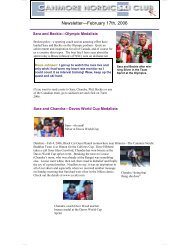 Newsletter—February 17th, 2006 - Canmore Nordic Ski Club