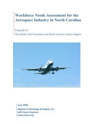 Workforce Needs Assessment for the Aerospace Industry in North ...