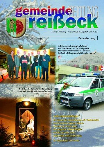Gemeindezeitung 2/2009 - Gemeinde Reißeck