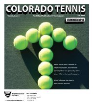 2010 Summer Issue - the Colorado Tennis Association