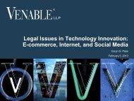 E-commerce, Internet, and Social Media - Venable LLP