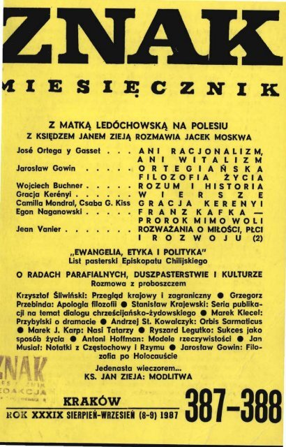 Nr 387 388 Sierpieå Wrzesieå 1987 Znak