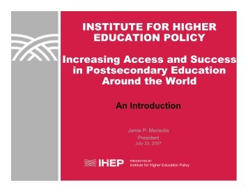 Hispanic-Serving Institutions - Institute for Higher Education Policy