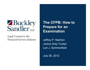 The CFPB: How to Prepare for an Examination