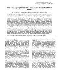 Molecular Typing of Hemolytic Escherichia coli Isolated ... - Agtech