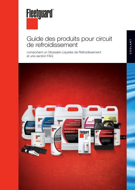 Guide des produits pour circuit de refroidissement