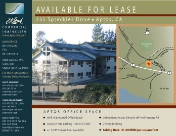 AVAILABLE FOR LEASE - J. R. Parrish